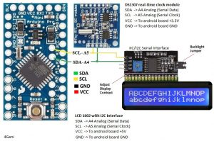Clock with LCD 1602 16x2 & DS1307 real clock