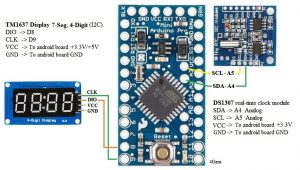 DS1307 & TM1637 with Arduino