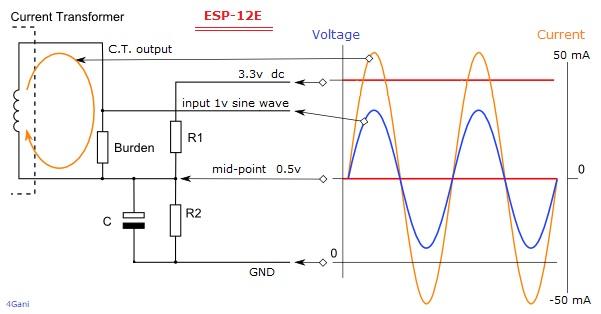 Calculating a Suitable Burden Resistor Size for ESP-12E