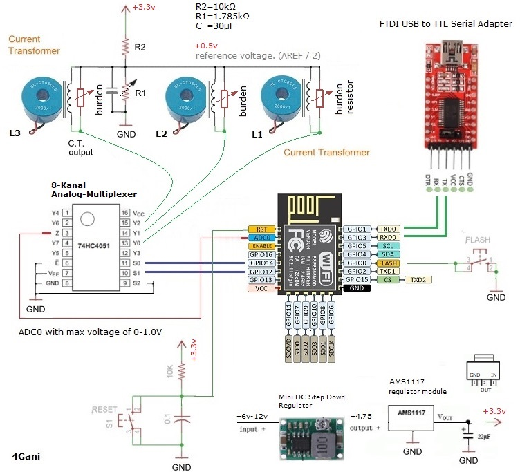 Here's the wiring and circuit diagram